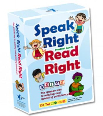 Speak Right Read Right - Kit 2 Teacher's Cards 說的好讀的對發音練習卡(老師卡A4) 第2套