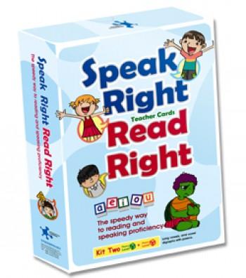 Speak Right Read Right - Kit 2 Student's Cards 說的好讀的對發音練習卡(學生卡A5) 第2套
