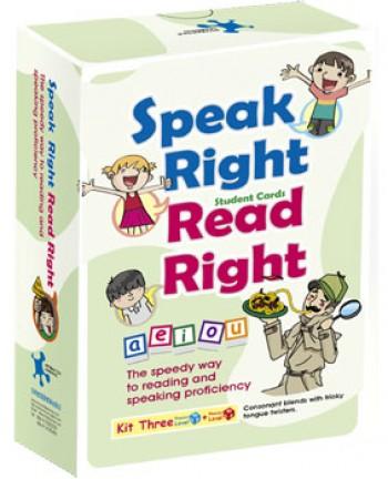 Speak Right Read Right - Kit 3 Student's Cards 說的好讀的對發音練習卡(學生卡A5) 第3套